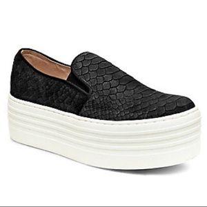 Steve Madden- black suede platform sneakers